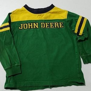 Boys John Deere Green Tractor 4T long sleeve
